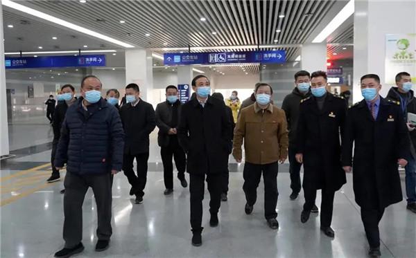 刘锋督查调研高铁北站新冠肺炎疫